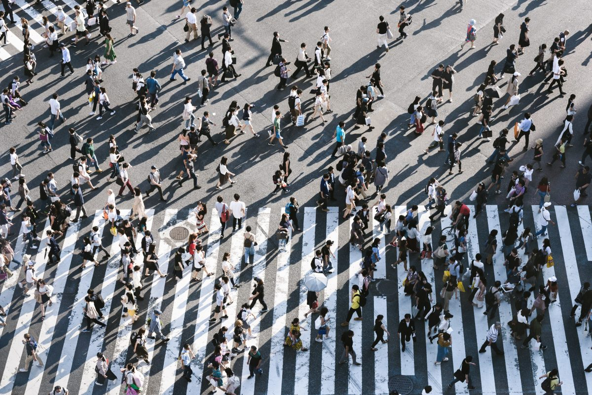 Величезний пішохідний перехід у Токіо